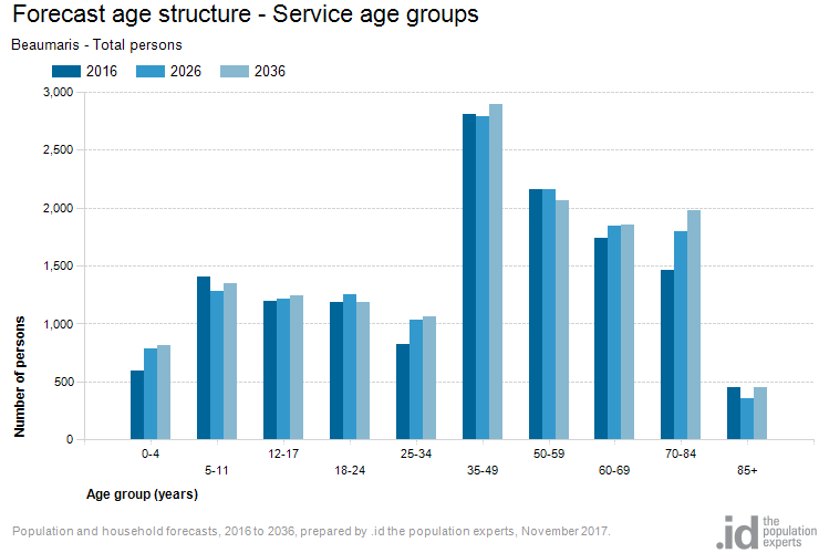 Forecast age structure - Service age groups
